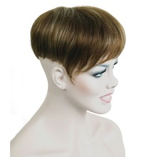 StrongBeauty Synthetic Hair Wig Toupee Short Straight Hair fo Men Toupees Hairpiece