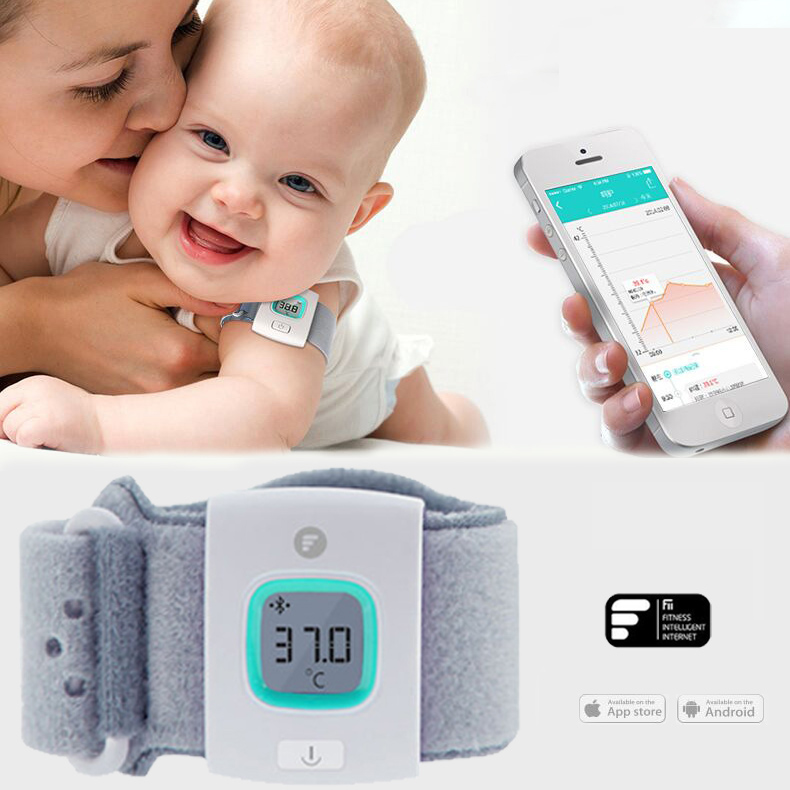 Fever Bluetooth Intelligent Thermometer Baby Wearable Infrared Smart Monitor Body Temperature Wristband