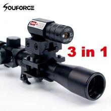 4x20 רובה אופטיקה היקף טקטי Crossbow Riflescope עם Red Dot לייזר Sight ו 11mm Rail Mounts עבור 22 קליבר רובים ציד