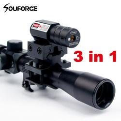 4x20 винтовка оптика Сфера Тактический арбалет прицел с Red Dot лазерный прицел и 11 мм Rail Крепления для 22 Калибр Пистолеты Охота