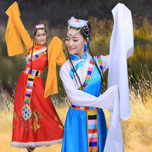 2016 Special Offer Dance Costumes Chinese Tibetan Clothing Sleeves Stage Costume National Yangko for 150cm-175cm Height