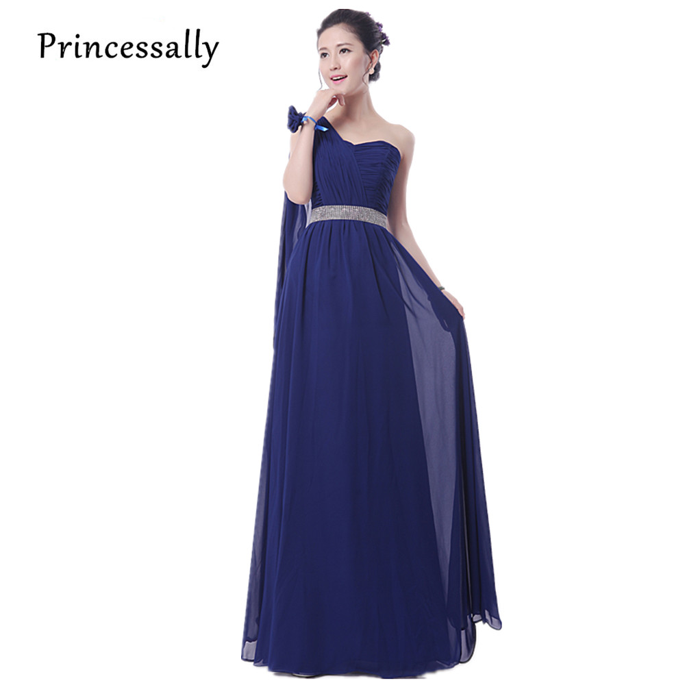 Aliexpress buy navy blue bridesmaids dresses long vestidos aliexpress buy navy blue bridesmaids dresses long vestidos de festa longo chiffon navy bridesmaid dresses elegant girls junior bridesmaid dress from ombrellifo Image collections