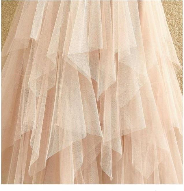 Women irregular Tulle Skirts Fashion Elastic High Waist Mesh Tutu Skirt Pleated Long Skirts Midi Skirt Saias Faldas Jupe Femmle 18