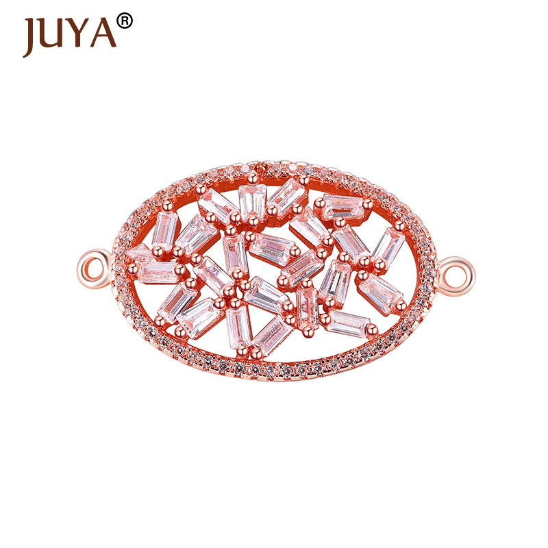 jewelry findings components luxury rhinestone crystal connectors for diy fashion bracele ...
