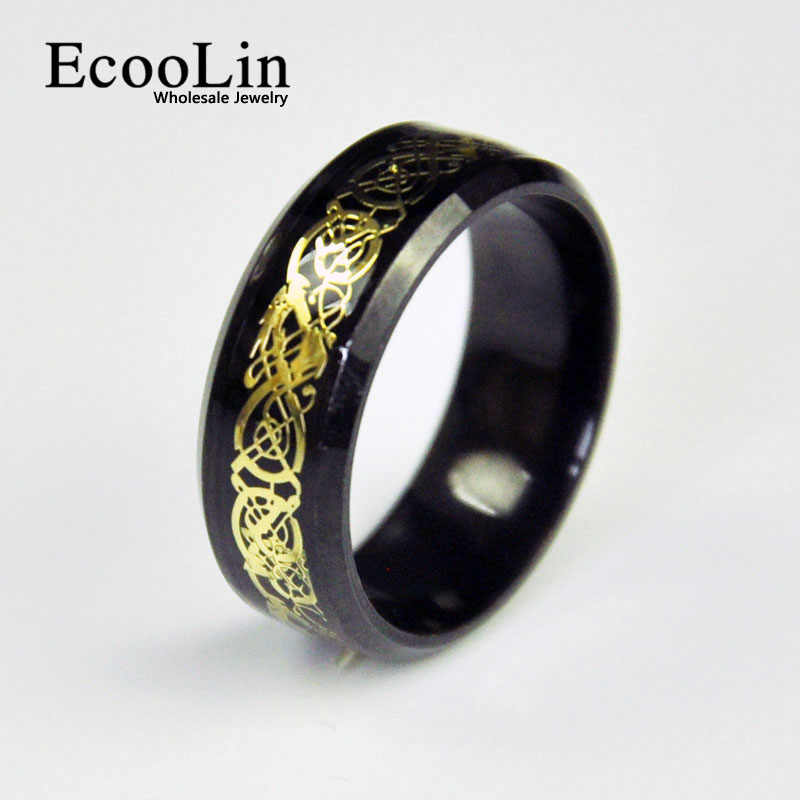 Stainless Steel Ring Black Titanium Steel Ring LR4136