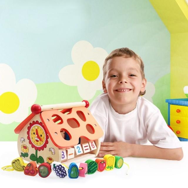 Цифровые Головоломки Детские Развивающие Деревянные Игрушки Kid Прекрасный Часы Познания Дом Образовательные Деревянные Игрушки Куба Действий Деревянная Рамка Игры