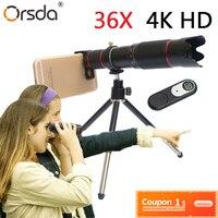 Orsda 4K HD 36X Optical Zoom Camera Lens Telephoto Lens Mobile Telescope Phone for Smartphone Cellphone lente para celular