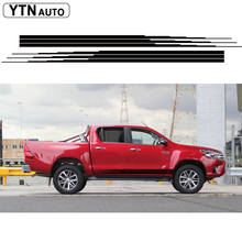 2 PC hilux side stripe graphic Vinyl sticker for TOYOTA HILUX decals with KK SIGN VINYLS free shipping 4 pc hilux side stripe graphic vinyl sticker for toyota hilux decals