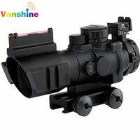 4x32 RGB Tactical Laser Sight Dot Red Tri Illuminated Combo Compact Scope Fiber Optics Green Sight