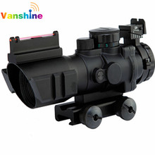 4×32 Acog Optyki Luneta 20mm Trapezowy Reflex Tactical Scope Sight Dla Airsoft Karabin Snajperski Karabin Myśliwski Lupa Air Soft
