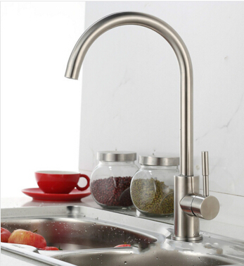 high quality single lever no lead total 304 stainless steel hot and cold kitchen sink faucet