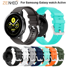 цена на Silicone 20mm watch strap For Samsung Galaxy watch Active smart watch straps Replacement bands For Samsung Gear S2 Accessories