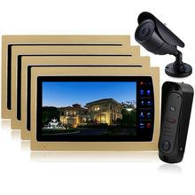 1200TVL1 Homefong 10 Pulgadas Teléfono Video de La Puerta de Grabación HD Nocturna Por INFRARROJOS Cámara y Monitor Manos Libres de Intercomunicación Timbre Timbre 1 CCTV