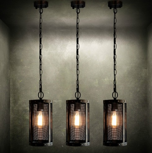 Nordic Loft Metal Mesh Retro Pendant Light Fixtures Edison Industrial Vintage Lighting For Living Dining Room Bar Hanging Lamp In Lights From