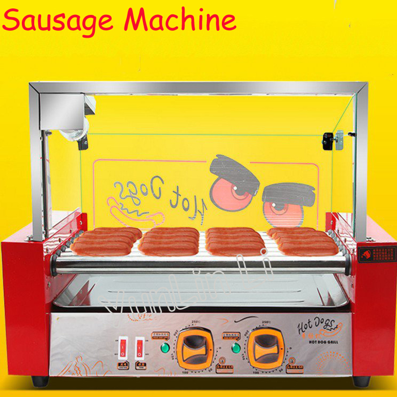Sausage Roaster Commercial & Household Hot Dog Roasting Machine Automatic Mini Hot Dog Sausage Baking Machine free shipping sausage machine taiwan hot dog machine roast sausage machine dedicated accessories motor gear