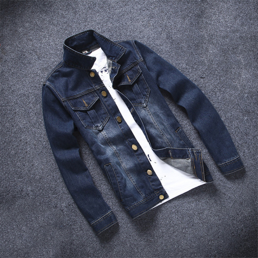 Autumn Winter New Fashion Style Slim Looking Large Size Men Jens Jackets Male Casual Wear Tops Good Quality Single Breasted