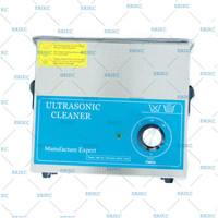ERIKC Diesel Fuel Injector Parts Cleaning System Tool E1024015 Auto Parts Equipment Ultrasonic Cleaner 110V 6L