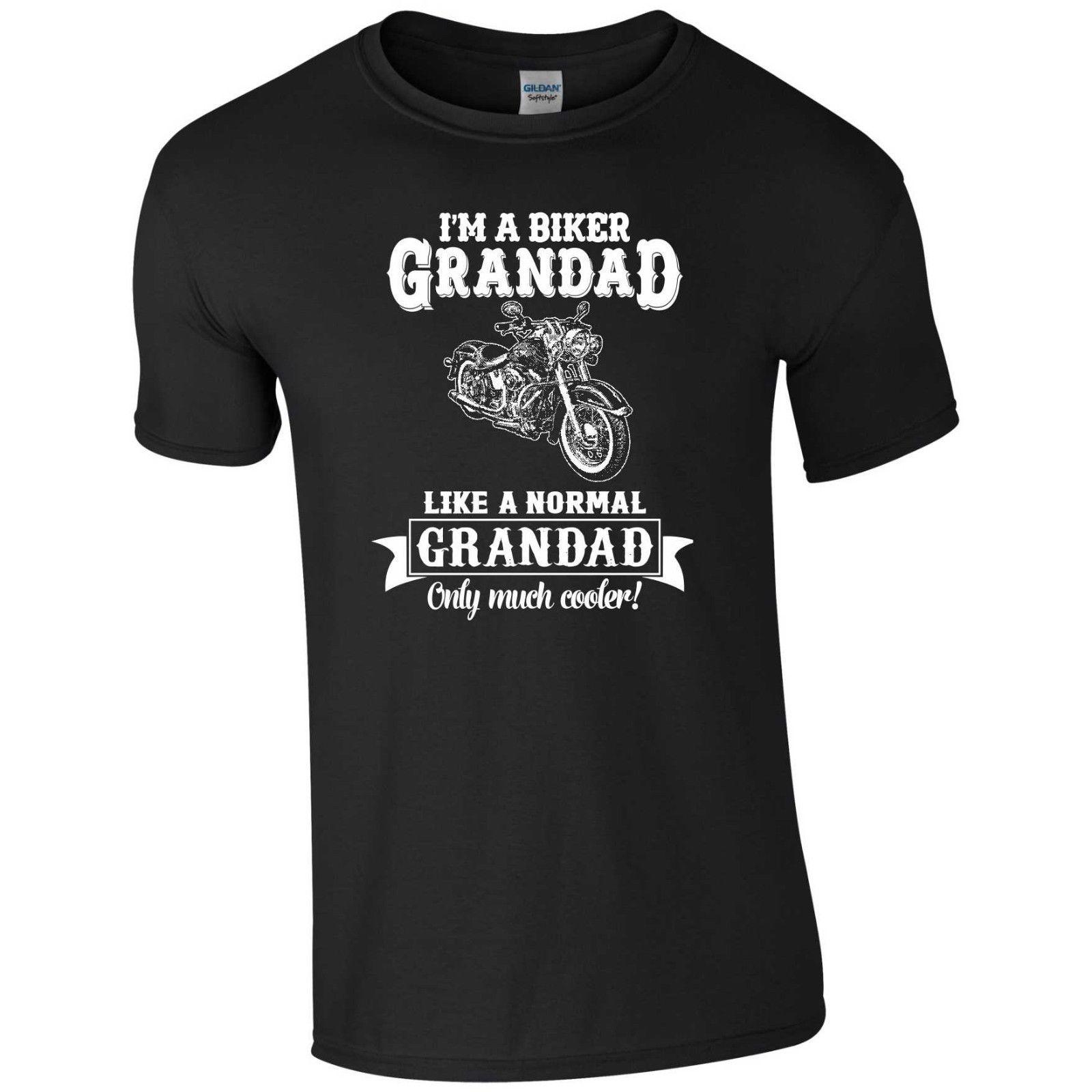 Biking Grandad T Shirt Biking Papa Dad Uncle Birthday Father Day Gift Funny Men Top