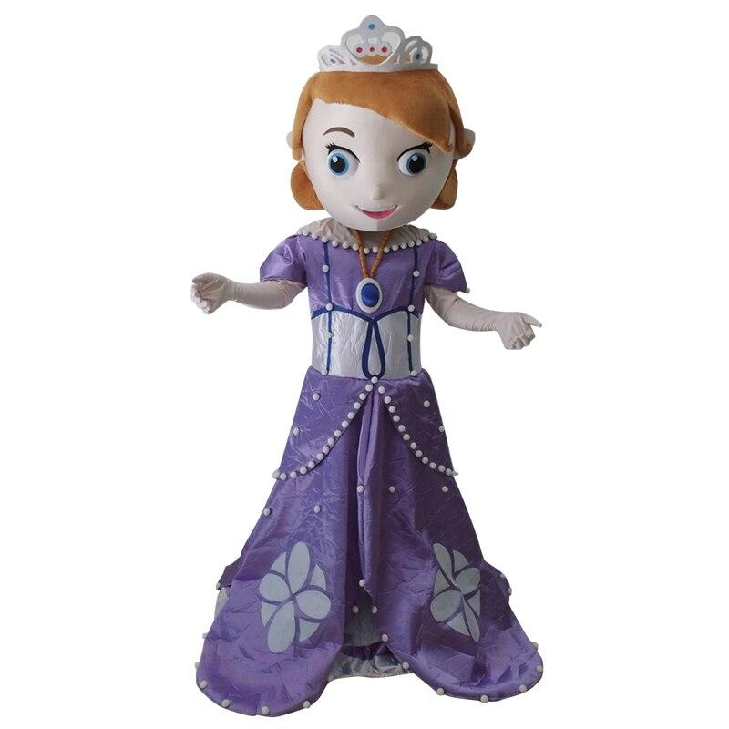 Offre spéciale nouveau design costume de mascotte adulte princesse Sofia adulte Sofia le premier costume de mascotte livraison gratuite