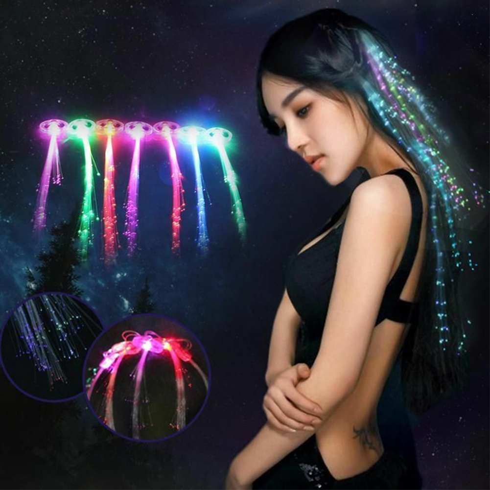 12pcs Club Stylish Led Light Clip Colorful Butterfly Show Interesting Concerts Flash Decoration Glowing Hairpin Wigs Party Braid