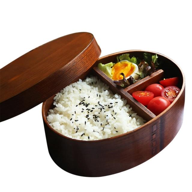 nat rliche holz lunch boxen japanischen stil bento holz. Black Bedroom Furniture Sets. Home Design Ideas