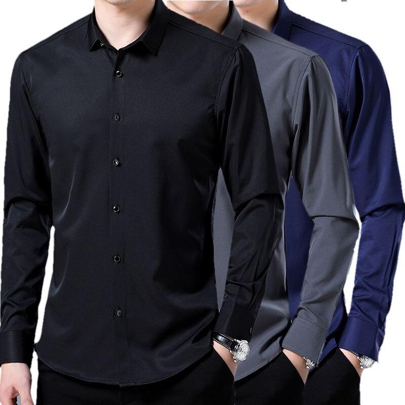 baef0bd705db Camisa de estilo chino para hombre 2019 nuevo verano fresco Color ...