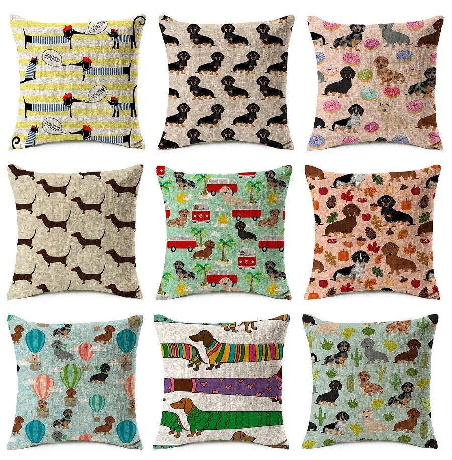 30cm50cm Dachshund Decorative Pillow Case Cushion Cover Throw
