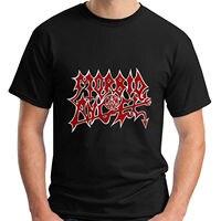 Men's Fashion Black Cotton New Morbid Angel Metal Gothic Rock Band Men's Black T-shirt Size S-5xl