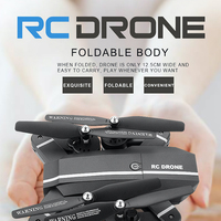 Elfie Drone MiNi Foldable Selfie Drone with HD Camera Drones WiFi FPV Quadcopter RC Helicopter One Key Return Dron Vs E56 H47