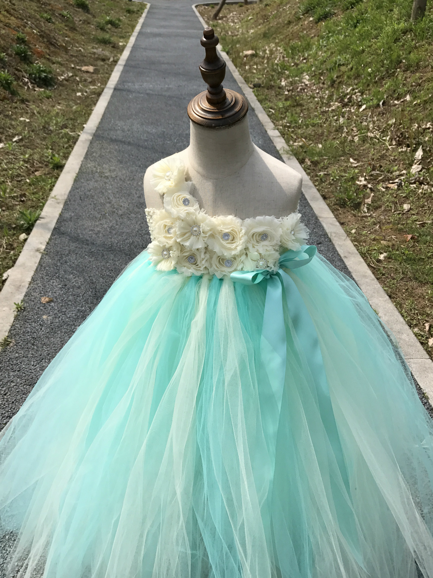 c1fb7db06f78 Pink and Grey Flower Girl Tutu Dress Wedding Tulle Dress Girls Wedding  Dresses Robe Demoiselle D. sku: 32954101309