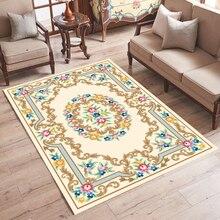 Oriental Area Rugs Bedroom Sofa 3D Carpets Door Mat European Palace style Moisture Absorbent Short Plush Living Room Rug