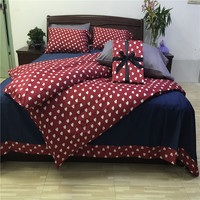 High Quality 100 Egyptian Long Staple Cotton Floral Pattern Nordic Simple Style King Queen Duvet Cover