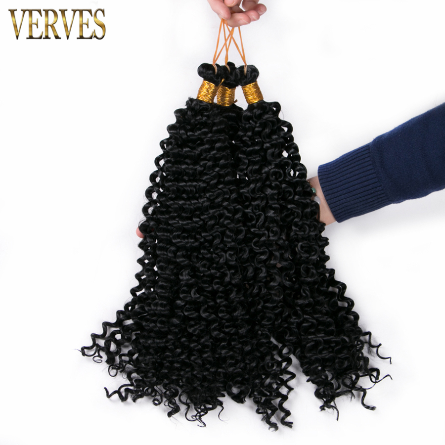 10 pcs curly crochet braid hair extensions 14inch 100g/pcs,high temperature fiber, balck ...