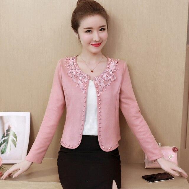Fashion  3XL 4XL Black Women Jacket 2021 O Collar Coat Women Short Jacket Long Sleeve Womens Jackets And Coats A956 2
