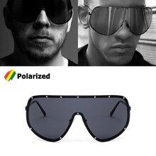 JackJad 2018 Fashion Oversized Shield POLARIZED Sunglasses G