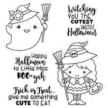 Little Witch Silicone Clear Stamps/Seal For DIY Scrapbooking Decorative Card Making Craft Fun Decoration Supplies