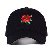 70f87da8644 VORON 2017 New Hot Fashion Roses Men Women Baseball Caps Spring Summer Sun  Hats for Women Solid Snapback Cap Wholesale Dad Hat