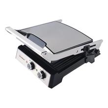 Гриль-пресс Endever Grillmaster 230 (Мощность 2400 Вт, терморегулятор (100-220 град), таймер до 30 мин, внутреннее антипригарное покрытие, лоток для сбора жира)