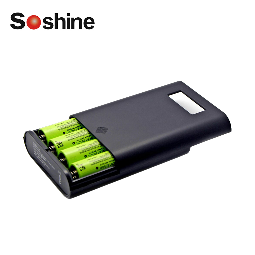 Soshine E3S LCD Display Replaceable Batteries Power Bank Professional Charger For 4 Pieces 16850 Batteries Black High Quality! цена