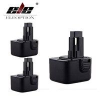 3x ELEOPTION CE High Capacity 3000mAh 12V Battery For Dewalt DW9071 DW9072 DC9071 DE9037 DE9071 DE9072