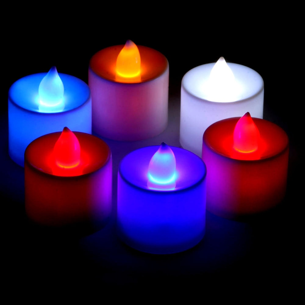 Candles & Holders Wholesale Multicolored Led Flameless Tealight Flicker Tea Light Wedding Party Candle Wd02 Save 50-70% Home & Garden