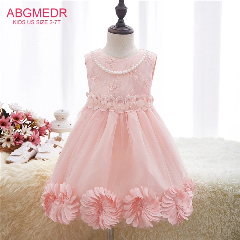 Flower Girls Dresses Monsoon Girl Clothing Autumn Baby Clothes Children Clothing Kids Birthday Party Wedding Pink Dress 2017 new 2016 fshion flower girl dress kids clothing party wedding birthday girls dresses baby girl white pink rose dress