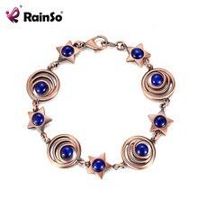Rainso Лидер продаж медные магнитные браслеты для женщин опал