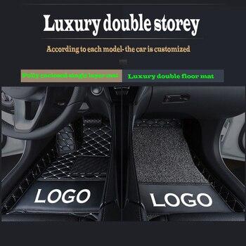 Custom car logo car floor mats for Haval H6 H9 H2 H5 H2S H3 HI H7 H7L H8  leather Anti-slip carpet cover