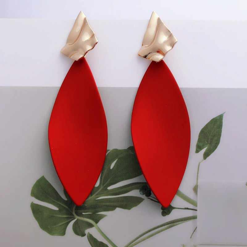 New fashion exaggerated Big Earrings for Women Geometric Leaf Earrings Golden women Jewelry Party Gift Wholesale