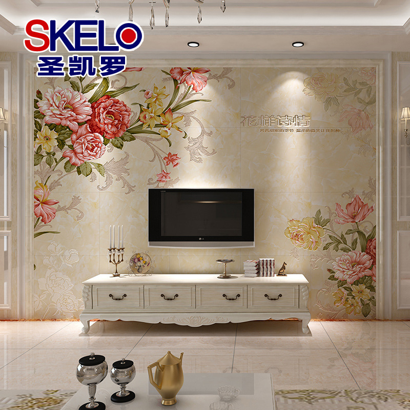 Royal Style Luxury Ceramic 3d Floor Stereo Tiles Art Background Wall Purple Orchid Tv Background Wall Tiles Fashion Free Custom Tile Resin Tile Professionalceramic Tile Heat Aliexpress