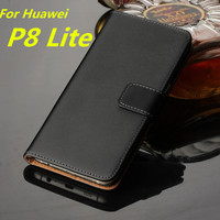 Wallet Leather Case For Huawei Ascend P8 Lite Case Luxury Flip Cover For Huawei P8 Mini