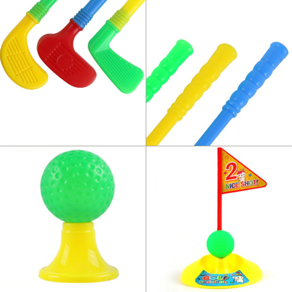 1 компл. многоцветный Пластик Гольф Игрушечные лошадки для детей Открытый Дворе Спортивные игры Бесплатная доставка