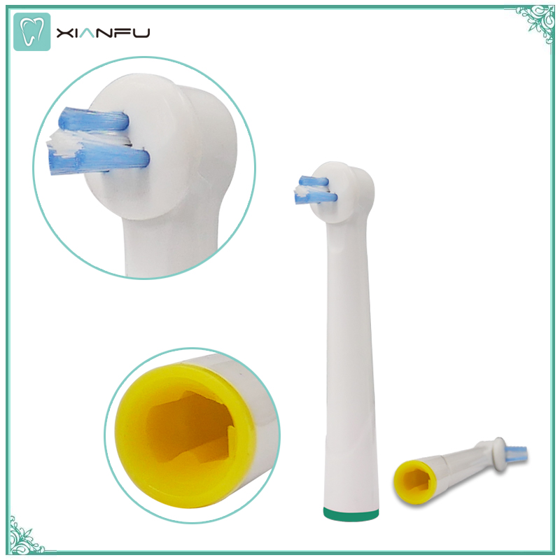 US $9 7 |12PCS Replacement Brush Heads Ip17 1 Power Tip Brush heads fit  oral B Interproximal Clean Designed For Braces And Dental work -in  Replacement