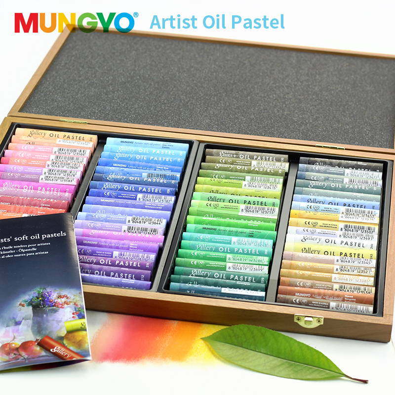 Mungyo Master Professional Soft Oil Pastel 72 Colors Crayons For Drawing Wooden Storage Box Pastels Dry Heavy Color Art SuppliesMungyo Master Professional Soft Oil Pastel 72 Colors Crayons For Drawing Wooden Storage Box Pastels Dry Heavy Color Art Supplies